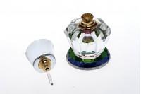 Bouteille en cristal de 6 ml avec couvercle en verre et les aiguilles