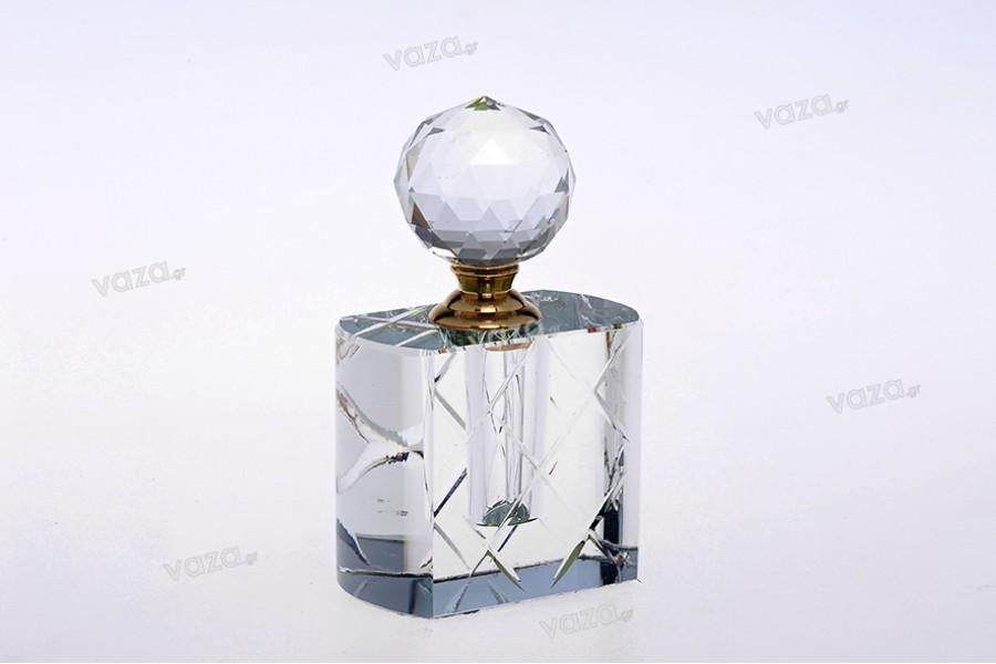 Μπουκαλάκι κρυστάλλινο 10ml με κρυστάλλινο καπάκι και βελόνα
