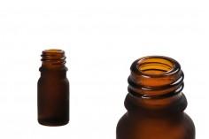 Γυάλινο μπουκαλάκι για αιθέρια έλαια 5 ml καραμελέ αμμοβολής με στόμιο PP 18