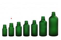 Γυάλινο μπουκαλάκι για αιθέρια έλαια 10 ml πράσινο αμμοβολής με στόμιο PP18