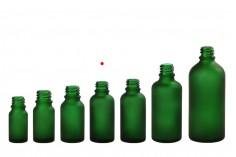 Γυάλινο μπουκαλάκι για αιθέρια έλαια 20 ml πράσινο αμμοβολής με στόμιο PP18