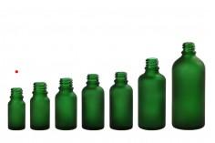 Γυάλινο μπουκαλάκι για αιθέρια έλαια 5 ml πράσινο αμμοβολής με στόμιο PP18