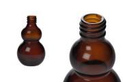 Μπουκαλάκι αιθέριων ελαίων 50 ml γυάλινο καραμελέ (PP18)