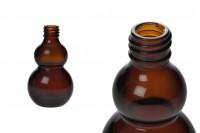 Flacon pour huiles essentielles ambré en verre de 50ml (PP18)