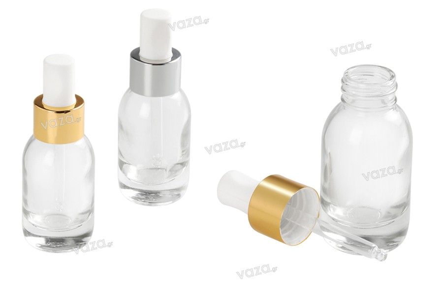 Μπουκαλάκι 50 ml γυάλινο με σταγονόμετρο