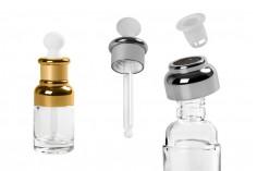 Flacon de 30 ml en verre avec compte-gouttes, égoutter et capuchon