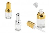 Bottle 30 ml glass with dropper, drain and button cap