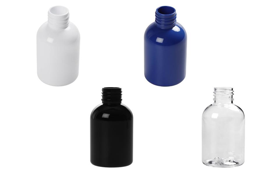 Μπουκάλι PET 100 ml σε διάφορα χρώματα (PP 24) - 12 τμχ