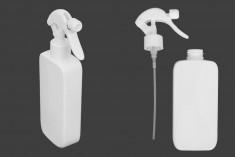 Μπουκάλι 300 ml πλαστικό (PET) λευκό με αντλία για ψεκασμό - 12 τμχ
