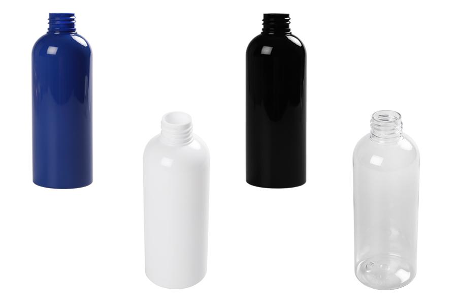 Bouteille de 200 ml de plastique de différentes couleurs (PP 24)