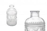 Μπουκάλι 200 ml γυάλινο με ανάγλυφα σχέδια