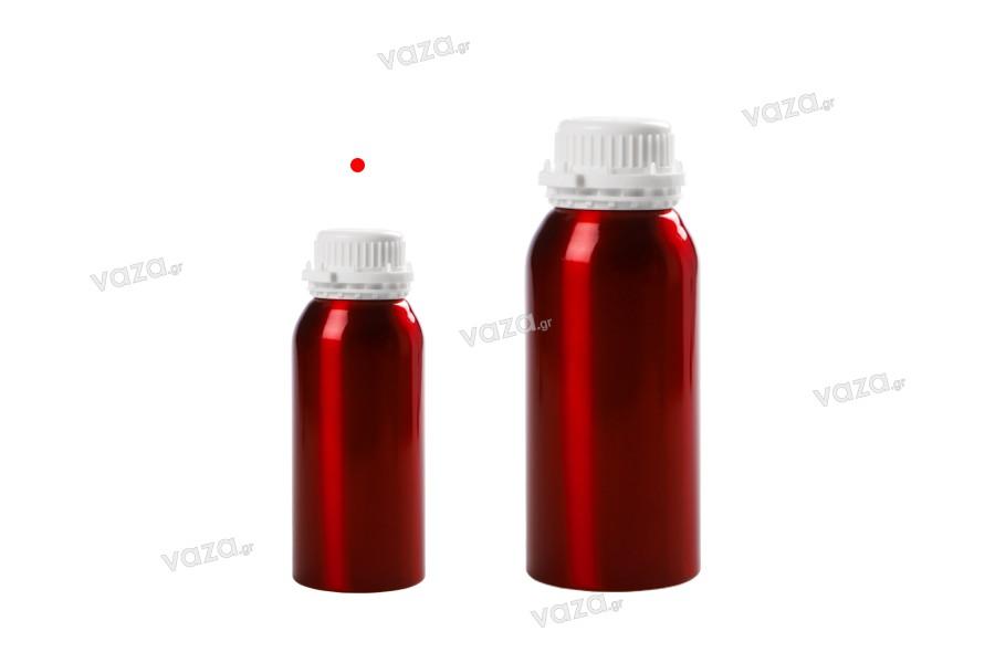 Bouteille en aluminium de 500 ml pour stocker des essences, des parfums et des solutions avec alcool avec bouchon et couvercle