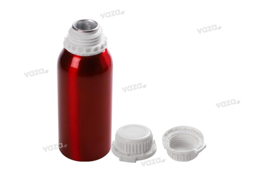 Φιάλη αλουμινίου 1000 ml με τάπα και καπάκι για αποθήκευση essence, αρωμάτων και αλκοολούχων διαλυμάτων