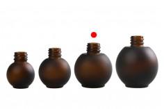 Μπουκάλι 30 ml γυάλινο, σφαιρικό σε χρώμα καραμελέ αμμοβολής
