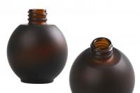 Μπουκάλι 50 ml γυάλινο, σφαιρικό σε χρώμα καραμελέ αμμοβολής