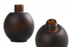 Flacon 50 ml en verre, ovale en sablage couleur bonbon