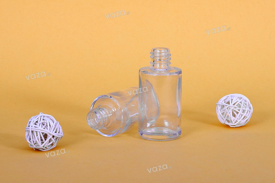 Φιάλη για αρώματα 30ml στρογγυλή γυάλινη (PP18)