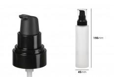 Μπουκάλι 150 ml γυάλινο αμμοβολής με μαύρη, πλαστική αντλία και διάφανο καπάκι