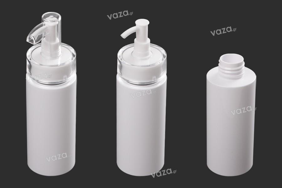 Μπουκάλι 120 ml πλαστικό με αντλία κρέμας (PP24) και καπάκι