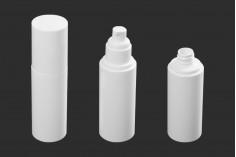 Μπουκάλι 100 ml πλαστικό με αντλία κρέμας (PP20) και καπάκι