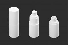 Μπουκάλι 30 ml πλαστικό με αντλία κρέμας (PP20) και καπάκι