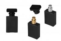 Flacon de parfum 30 ml de couleur noire avec vaporisateur et bouchon