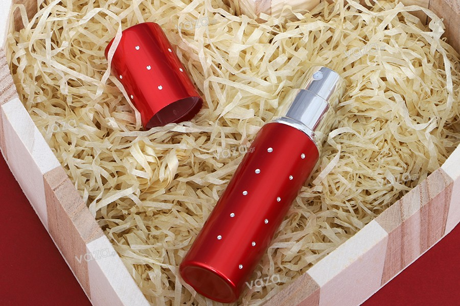 Σπρέυ για αρώματα 10 ml γυάλινο μέσα σε θήκη αλουμινίου με στρας