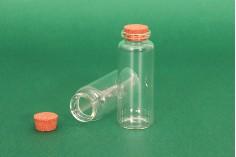 Μπουκαλάκι γυάλινο με φελλό - 12 τμχ