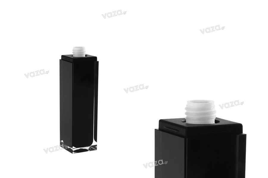 Μπουκαλάκι πολυτελείας 100 ml μαύρο με αντλία και καπάκι