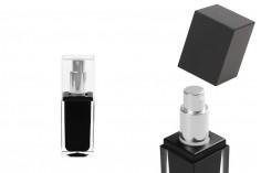 Μπουκαλάκι πολυτελείας 15 ml μαύρο με αντλία και καπάκι