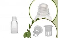 Μπουκαλάκι για μερίδα ελαιολάδου 20 ml γυάλινο διάφανο