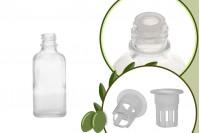 Μπουκαλάκι για μερίδα ελαιολάδου 50 ml γυάλινο διάφανο