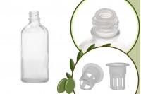 Μπουκαλάκι για μερίδα ελαιολάδου 100 ml γυάλινο διάφανο