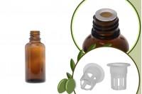 Μπουκαλάκι για μερίδα ελαιολάδου 30 ml γυάλινο καραμελέ