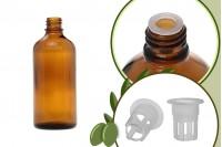 Μπουκαλάκι για μερίδα ελαιολάδου 100 ml γυάλινο καραμελέ