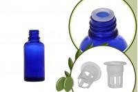Μπουκαλάκι για μερίδα ελαιολάδου 30 ml γυάλινο μπλε