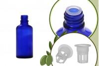 Μπουκαλάκι για μερίδα ελαιολάδου 50 ml γυάλινο μπλε