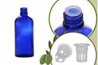 Μπουκαλάκι για μερίδα ελαιολάδου 100 ml γυάλινο μπλε