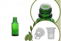 Μπουκαλάκι για μερίδα ελαιολάδου 20 ml γυάλινο πράσινο