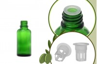 Μπουκαλάκι για μερίδα ελαιολάδου 30 ml γυάλινο πράσινο