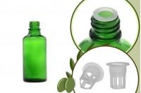 Μπουκαλάκι για μερίδα ελαιολάδου 50 ml γυάλινο πράσινο