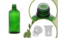 Μπουκαλάκι για μερίδα ελαιολάδου 100 ml γυάλινο πράσινο