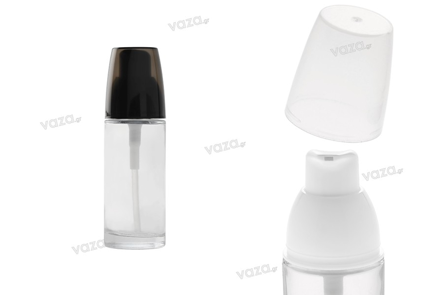 Γυάλινο μπουκάλι για κρέμα στρόγγυλο 30 ml