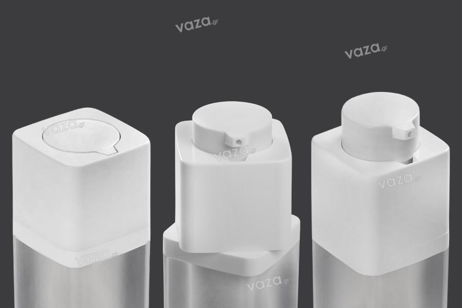 Μπουκαλάκι airless 30 ml ακρυλικό με  λευκή αντλία