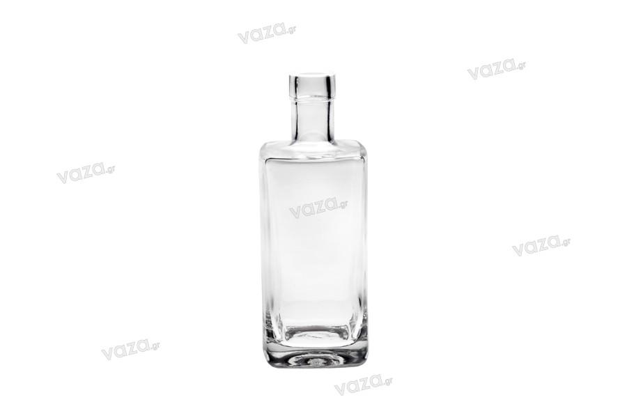 Bouteille carrée élégante pour huiles et boissons 700ml