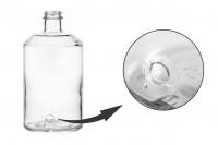 Μπουκάλι για αρώματα 1000 ml, γυάλινο κυλινδρικό με υποδοχή για βρυσάκι (επιλέξτε το βρυσάκι από τα συνοδευτικά)*