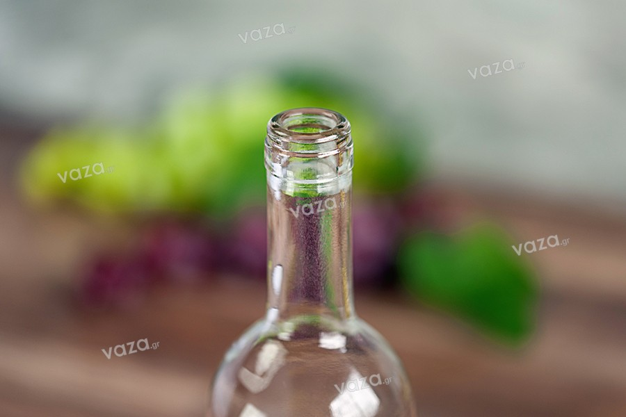 Μπουκάλι για κρασί 750 ml Leggera διάφανο (Φ19)