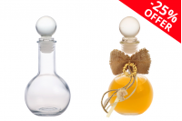 OFFER! Spherical bottle 100 ml with glass lid *  - From 1.96€ to 1.47€ per piece