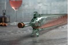 Μπουκάλι από φυσητό γυαλί 470 ml σε σχήμα οξύρρυγχου 70 cm με φυσικό φελλό