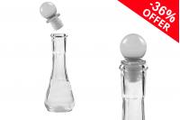 Προσφορά! Γυάλινο μπουκαλάκι 50 ml διάφανο με γυάλινο πώμα - Από 1,75€ σε 1,12€  το τεμάχιο